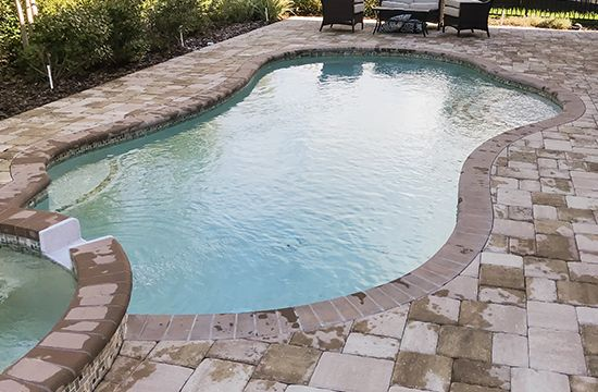 Stone Paver Pool Deck Remodeling