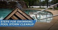 Swimming pool storm cleanup tips